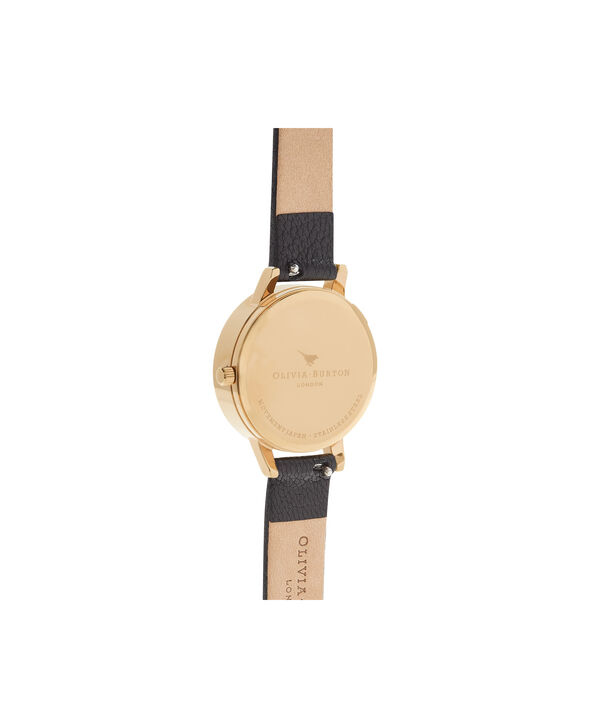 OLIVIA BURTON LONDON  Midi 3D Bee Black & Gold Watch OB16AM118 – Midi Dial Round in Black - Back view