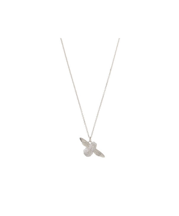 OLIVIA BURTON LONDON 3D Bee Pendant Necklace SilverOBJ16AMN26 – 3D Bee Pendant Necklace - Front view