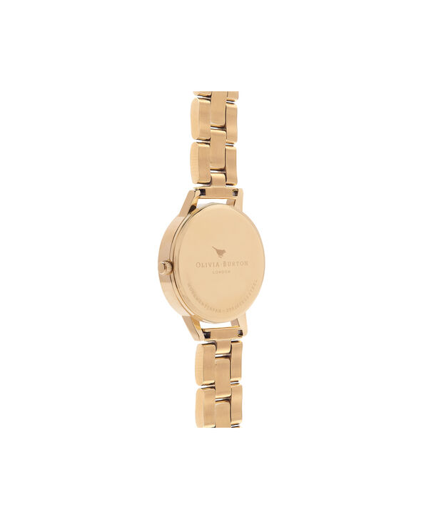OLIVIA BURTON LONDON  Winter Garden Big Dial Grey & Gold Watch OB16EG95 – Big Dial in Grey Floral and Gold - Back view