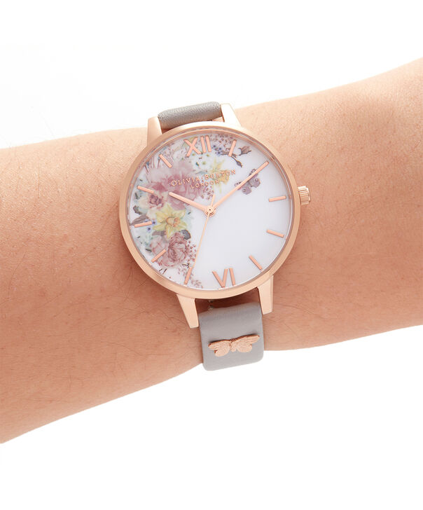 OLIVIA BURTON LONDON Enchanted Garden Demi Grey Lilac & Rose GoldOB16EG129 – Demi Dial In Grey And Rose Gold - Other view