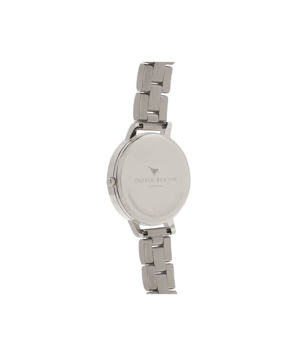 OLIVIA BURTON LONDON White Dial Bracelet Silver & Rose Gold WatchOB16BL32 – Big in White, Rose Gold and Silver - Back view