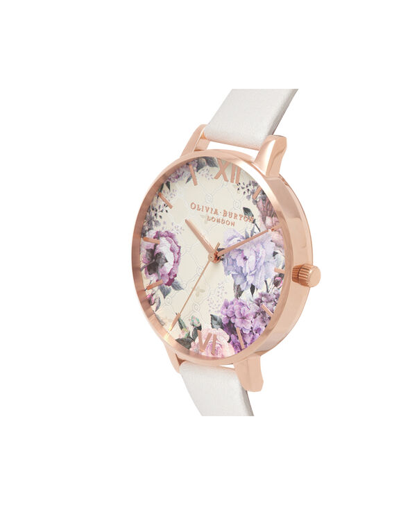 OLIVIA BURTON LONDON  Glasshouse Blush & Rose Gold OB16EG97 – Big Dial Round in Rose Gold - Side view