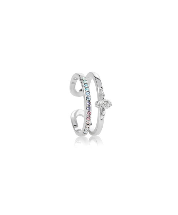 OLIVIA BURTON LONDON Rainbow Bee Ring SilverOBJAMR28 – Ring in Silver - Side view