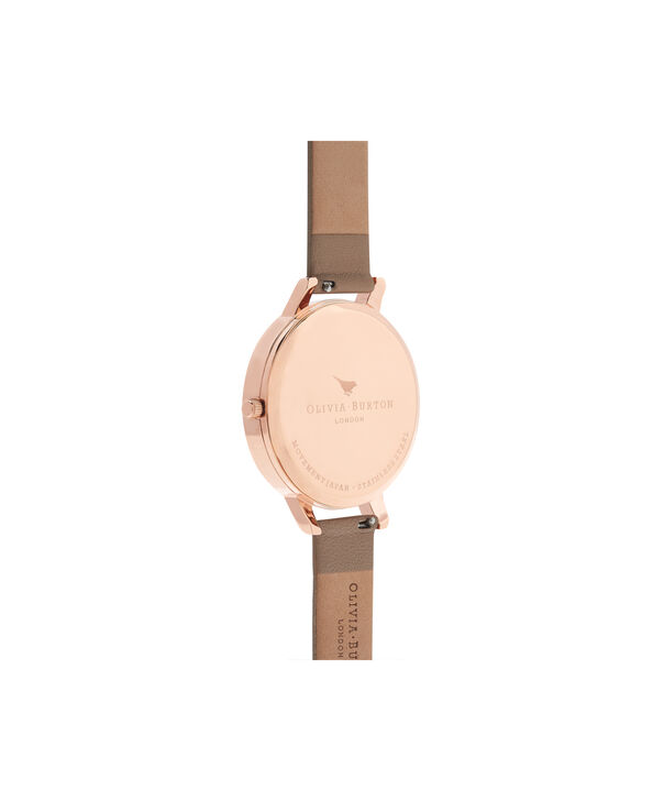 OLIVIA BURTON LONDON  White Dial Sand, Rose Gold & Silver Watch OB16BDW31 – Big Dial in Rose Gold, White and Sand - Back view