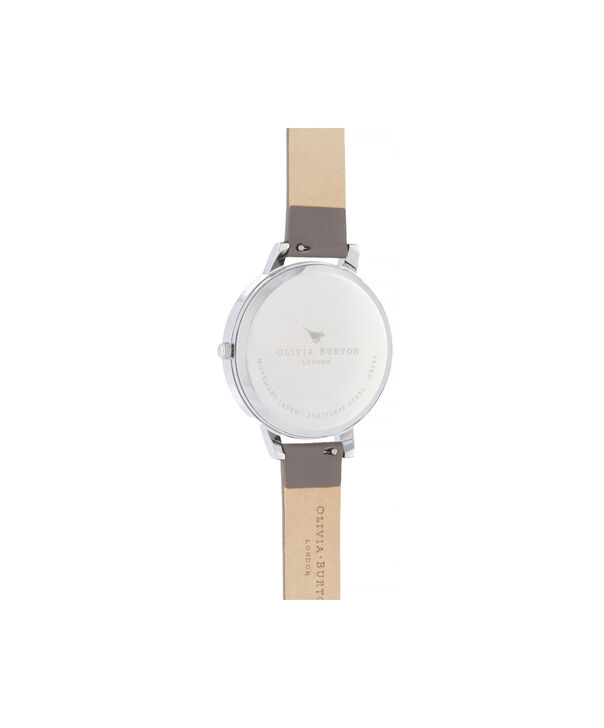 OLIVIA BURTON LONDON Twilight Sunray Big Dial WatchOB16TW05 – Big Dial in grey and Silver & Rose Gold - Back view