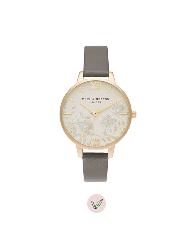 OLIVIA BURTON LONDON Demi Nude Dial Vegan London Grey & GoldOB16MV98 – Demi Dial in London Grey and Gold - Front view