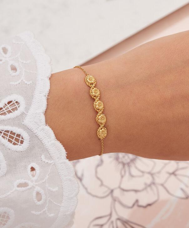 OLIVIA BURTON LONDON Flower Show Rope Chain Bracelet Gold  OBJ16FSB10 – Floral Charm Chain Bracelet - Other view