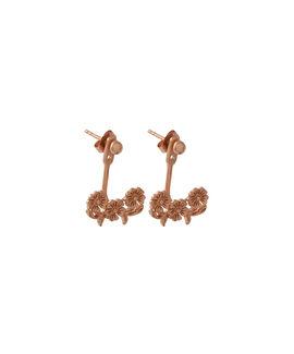 Lace Detail Jacket Earrings Rose Gold