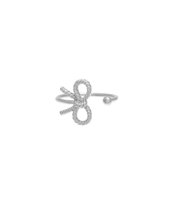 OLIVIA BURTON LONDON  Vintage Bow Ring Silver OBJ16VBR03 – Vintage Bow Ring - Front view