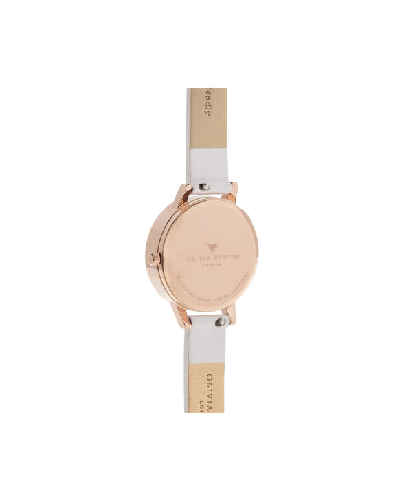 OLIVIA BURTON LONDON Glasshouse Vegan Blush & Rose GoldOB16GH07 – Midi Dial Round in Rose Gold and Pink - Back view