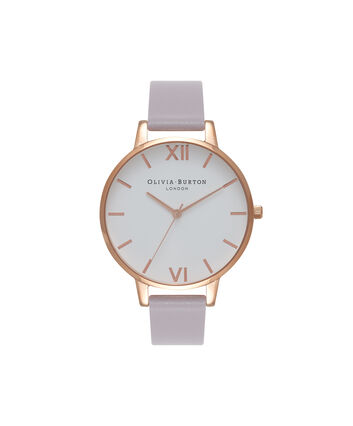 OLIVIA BURTON LONDON White DialOB16BDW16 – Big Dial in White and Grey Lilac - Front view