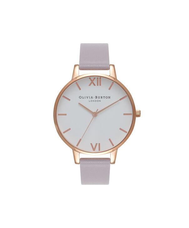 e10eabe8c OLIVIA BURTON LONDON White Dial Grey Lilac & Rose Gold Watch OB16BDW16 – Big  Dial in ...