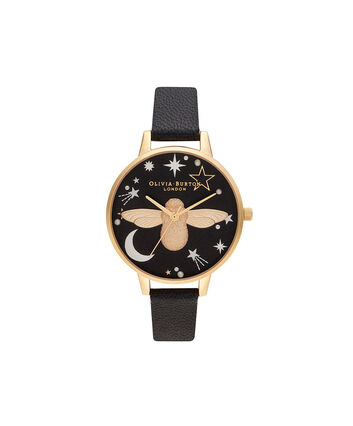 OLIVIA BURTON LONDON Ramadan 3D Bee, Black & GoldOB16GD21 – Ramdan  3D Bee, Black & Gold - Front view