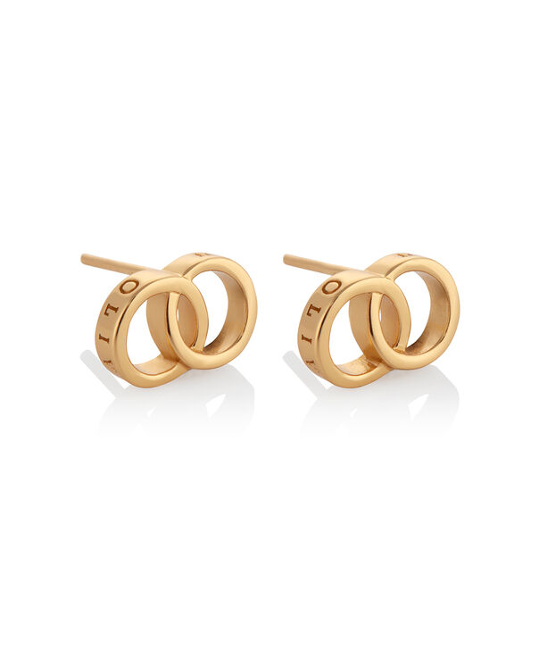 OLIVIA BURTON LONDON The Classics Interlink Earrings GoldOBJCOE73 – SHOPBAG_LABEL - Side view