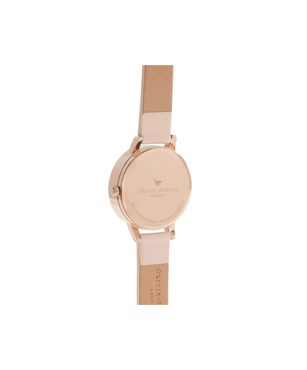 OLIVIA BURTON LONDON  3D Daisy Nude Peach & Rose Gold Watch OB16FS87 – Midi Dial Round in White and Peach - Back view
