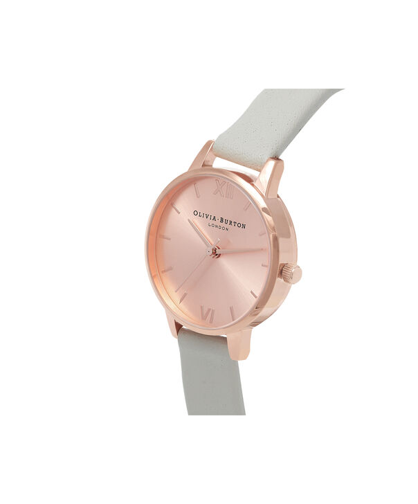 OLIVIA BURTON LONDON  Midi Dial Grey And Rose Gold Watch OB15MD46 – Midi Dial Round in Rose Gold and Grey - Side view