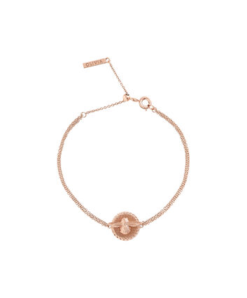 OLIVIA BURTON LONDON 3D Bee & Coin Chain Bracelet Rose Gold OBJ16AMB23 – 3D Bee Chain Bracelet - Front view