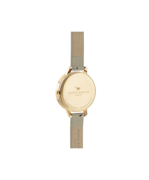 OLIVIA BURTON LONDON Marble Florals Demi 3D Bee Sand & GoldOB16CS22 – Demi Dial In Brown And Gold - Back view
