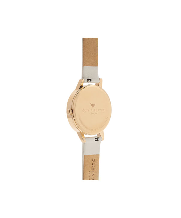 OLIVIA BURTON LONDON  Marble Florals Nude & Gold OB16CS15 – Big Dial Round in Nude and Gold - Back view