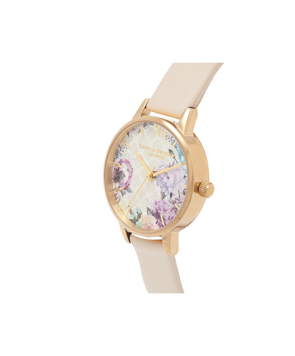 OLIVIA BURTON LONDON  Glasshouse Nude & Gold OB16EG99 – Midi Dial Round in Gold and Nude - Side view