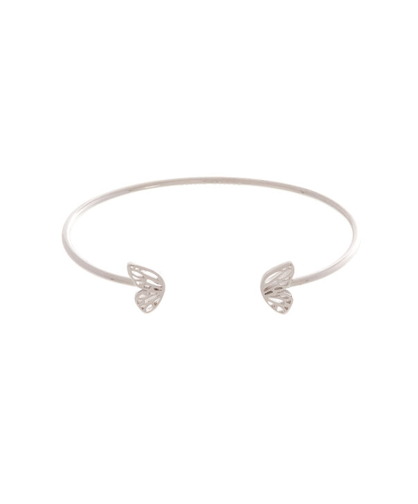 OLIVIA BURTON LONDON Butterfly Wing Bangle Silver OBJ16EBB06 – Butterfly Wing Bangle - Front view