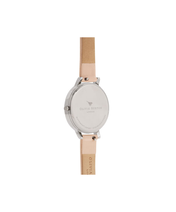 OLIVIA BURTON LONDON  Abstract Florals Nude Peach, Rose Gold & Silver OB16VM27 – Midi Dial Round in Silver and Rose Gold - Back view