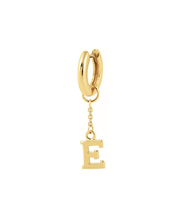 OLIVIA BURTON LONDON  E Alphabet Huggie Charm Gold OBJ16HCGE – Charms - Side view