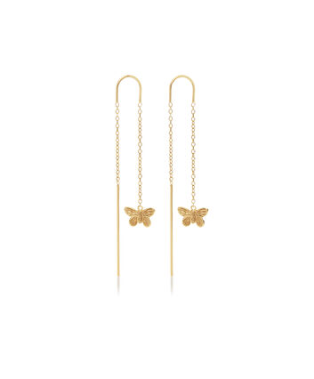 OLIVIA BURTON LONDON 3D Butterfly Threader Earrings GoldOBJMBE10 – Earrings in Gold - Front view