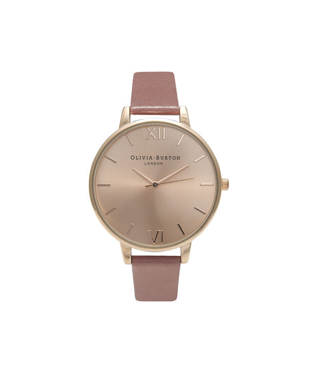 OLIVIA BURTON LONDON  Big Dial Rose & Rose Gold Watch OB15BD78 – Big Dial Round in Rose Gold and Rose - Front view