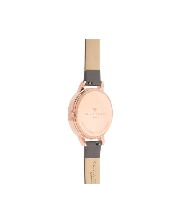 OLIVIA BURTON LONDON  Marble Floral London Grey & Rose Gold OB16MF08 – Midi Dial Round in Rose Gold and Grey - Back view
