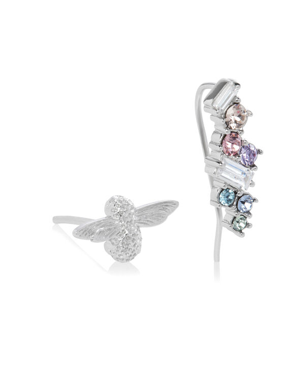 OLIVIA BURTON LONDON Rainbow Bee Crawler & Stud SilverOBJAME131 – Earrings in Silver - Side view