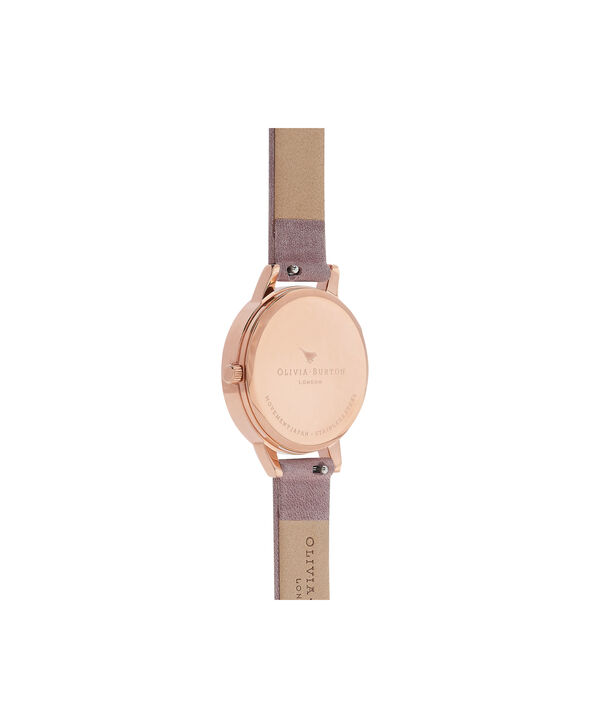OLIVIA BURTON LONDON Peony Parlour Sunray Midi Dial Watch with Rose SuedeOB16PL42 – Midi Dial in pink and Rose Gold - Back view