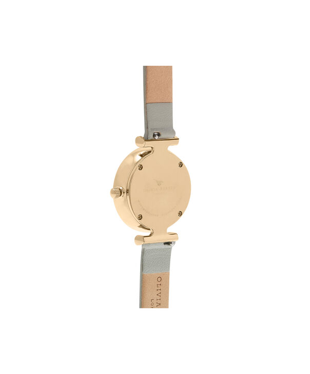 OLIVIA BURTON LONDON  Queen Bee Grey Mother of Pearl Grey & Gold OB16AM154 – Midi Dial Round in Gold and Grey - Back view