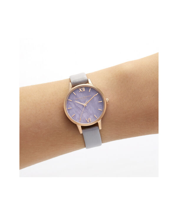 OLIVIA BURTON LONDON Midi Amethyst Lilac & Rose GoldOB16SP17 – Midi Dial in Grey Lilac and Rose Gold - Other view