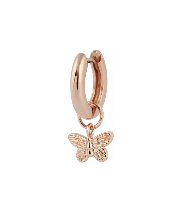 OLIVIA BURTON LONDON  Butterfly Huggie Charm Rose Gold OBJ16MBE05 – Charms - Side view