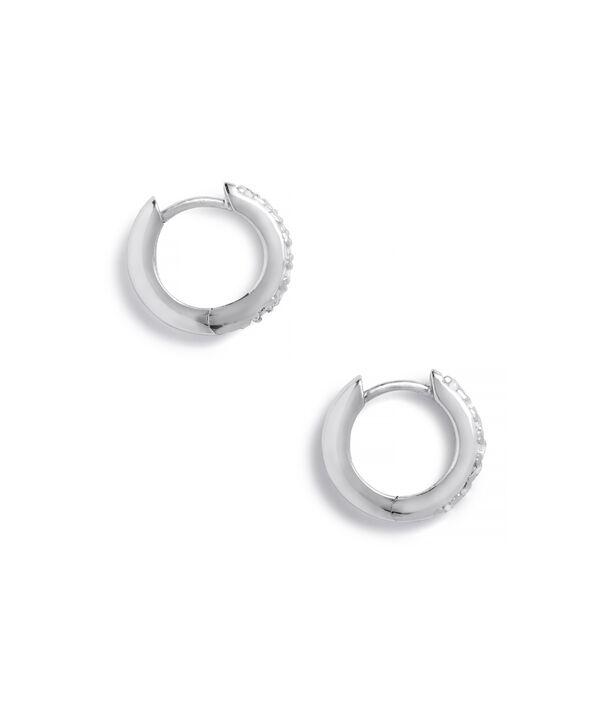 OLIVIA BURTON LONDON Huggie Hoop Earrings with White TopazOBJ16COE20 – Huggie Hoop Earrings - Side view