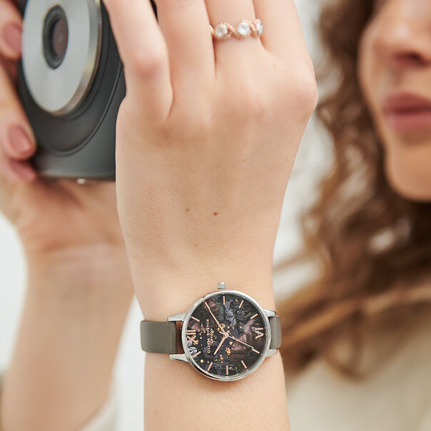 OLIVIA BURTON LONDON Celestial Demi Dial WatchOB16GD26 – Demi Dial in grey and Silver & Rose Gold - Other view
