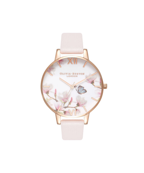 Ladies Pretty Blossom Rose Gold & Blossom Watch | Olivia Burton London