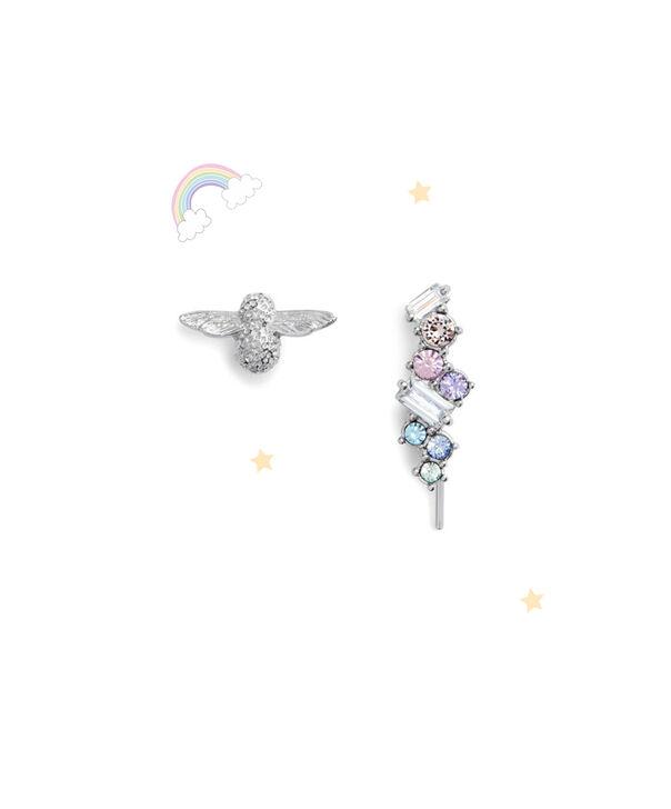 OLIVIA BURTON LONDON Rainbow Bee Crawler & Stud SilverOBJAME131 – Earrings in Silver - Front view