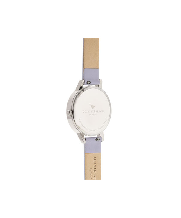 OLIVIA BURTON LONDON  Painterly Prints Parma Violet, Rose Gold & Silver OB16PP50 – Midi Dial Round in Silver and Rose Gold - Back view