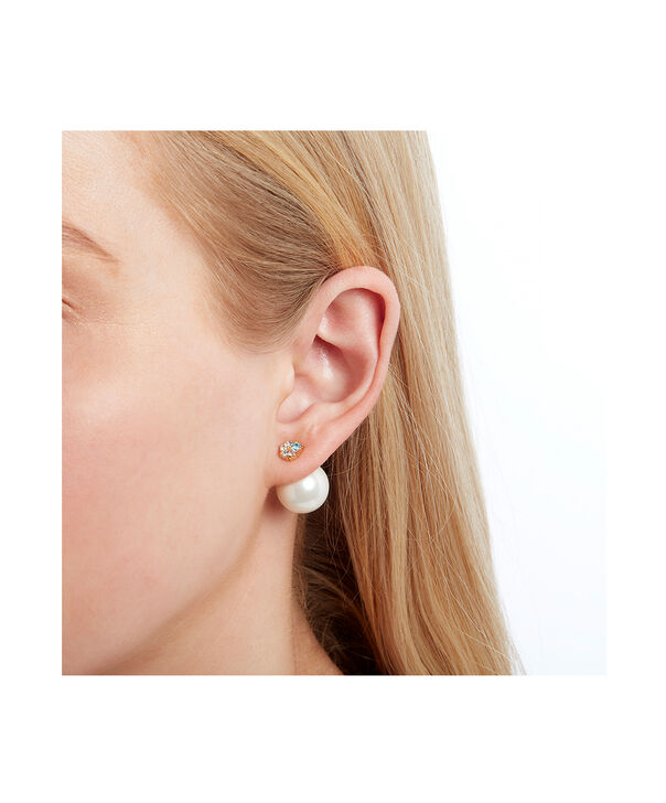OLIVIA BURTON LONDON Under The Sea White Pearl Back Earrings GoldOBJSCE08 – SHOPBAG_LABEL - Other view