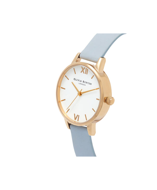 OLIVIA BURTON LONDON  Midi White Dial Chalk Blue & Gold Watch OB16MDW24 – Midi Dial Round in White and Chalk Blue - Side view