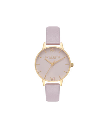 OLIVIA BURTON LONDON  Big Dial Blush Dial & Gold Watch OB16MD72 – Midi Dial Round in Blush - Front view