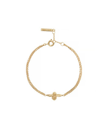 OLIVIA BURTON LONDON 3D Bee Chain BraceletOBJ16AMB44 – 3D Bee Chain Bracelet - Front view