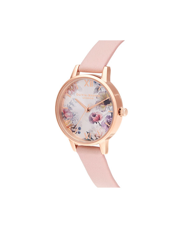 OLIVIA BURTON LONDON Sunlight Florals Dusty Pink & Rose GoldOB16EG115 – Sunlight Florals Dusty Pink & Rose Gold - Side view
