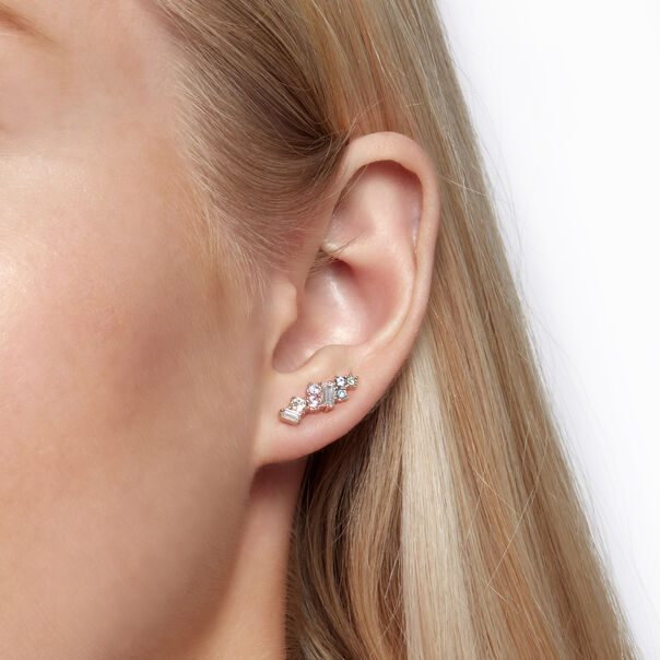 OLIVIA BURTON LONDON Rainbow Bee Crawler & Stud Rose GoldOBJAME125 – Earrings in Rose Gold - Other view