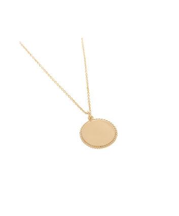 OLIVIA BURTON LONDON Engravables Disc Necklace GoldOBJ16ENN10 – Engravable Disc Necklace - Front view