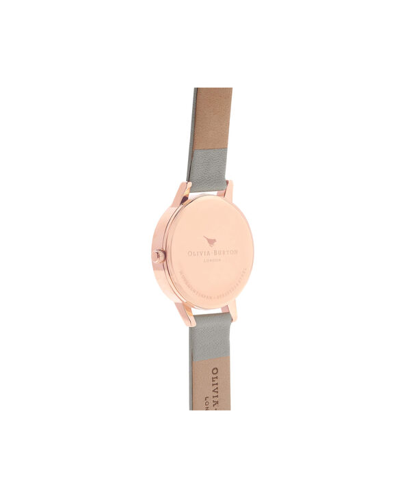 OLIVIA BURTON LONDON  Midi Dial Grey And Rose Gold Watch OB15MD46 – Midi Dial Round in Rose Gold and Grey - Back view