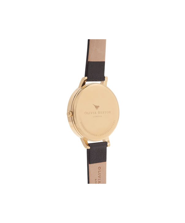 OLIVIA BURTON LONDON  Big Dial Black And Gold Watch OB13BD06 – Big Dial Round in Gold and Black - Back view