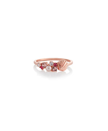 OLIVIA BURTON LONDON Under The Sea Shell Bubble Ring Rose Gold LOBJSCR02C – SHOPBAG_LABEL - Front view